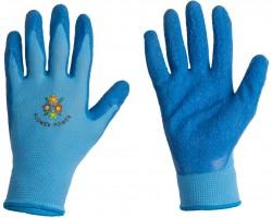 Перчатки Listok хозяйственные нейлоновые с каучуковым покрытием голубой M арт.LR300B