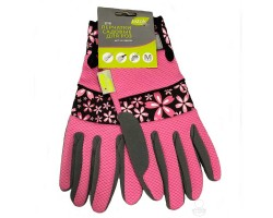 Перчатки Listok для роз из иск.замши/полиэстер розовый М арт.LIV168-05