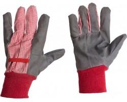 Перчатки Listok хозяйственные с манжетой х/б с винил покрытием красный M