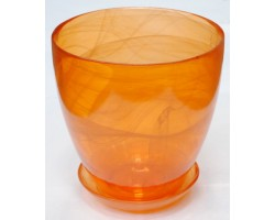 Горшок №2 алеб.крш.D13*H12см оранжевый