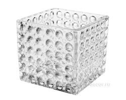 Ваза 3D куб 95*95*95мм арт.7572