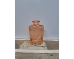 Ваза Бутылка (стекло) D5*H9,5см красный 5500012075086