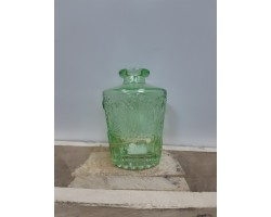 Ваза Бутылка (стекло) D5*H9,5см зеленое яблоко 5500012075087