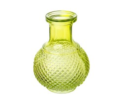Ваза Бутылка (стекло) 11,5*8,5см зеленый