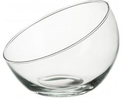 Ваза Анабель шаровая  с кос.срезом (стекло) D25,5*H21,5см