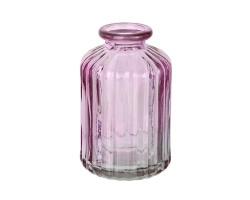 Ваза Бутылочка Джаз D6*H10см розовый арт.39902