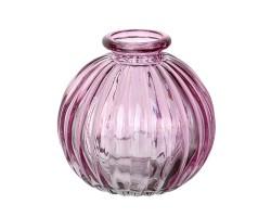 Ваза Бутылочка Джайв D8,5*H8,5см розовый арт.39906
