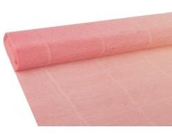 Бумага гофрированная простая-переход 180гр 17A/7 розовый+персиковый