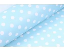 Бумага глянцевая 100/001-50 Горошек голубой (упак.10 листов)