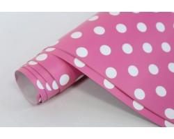 Бумага глянцевая 100/001-61 Горошек розовый (упак.10 листов)