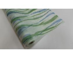 Флизелин 06/09-45 с печатью линии зеленые 50см*10м