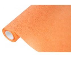 Фетр Розы цветочные  ламинированный 3D 50см*5м оранжевый