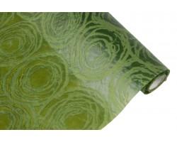 Фетр с рельефным узором Круговорот  50см*5м зеленый