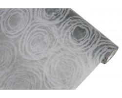 Фетр с рельефным узором Круговорот  50см*5м графитовый