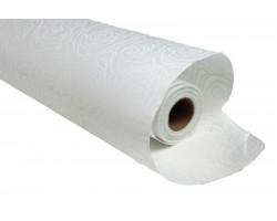 Фетр с рельефным узором Розы контурные  50см*10м белый