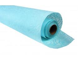 Фетр с рельефным узором Розы контурные  50см*10м голубой