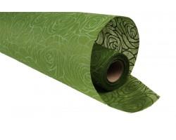 Фетр с рельефным узором Розы контурные  50см*10м оливковый