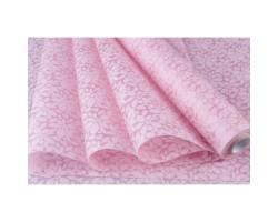 Фетр Листья ламинированный 3D 50см*10м розовый