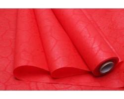 Фетр Тиснение ламинированный 3D 50см*10м красный