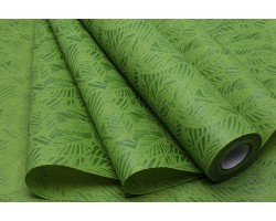 Фетр Листья изящные ламинированный 3D 50см*10м зеленый