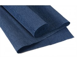 Бумага гофрированная простая 180гр 615 дымчато-синий
