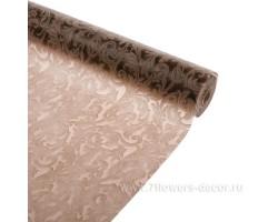 Упак.материал ламинированный фетр 3D Swirl 50см*10м коричневый