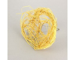 Каркас для букета из ротанга 20см желтый