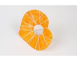 Каркас для букета Сердце с декором  (сизаль) 25см оранжевый