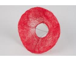 Каркас для букета (сизаль) гладкий 25см красный