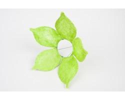 Каркас для букета Цветок с острыми лепестками (сизаль) 25см салатовый