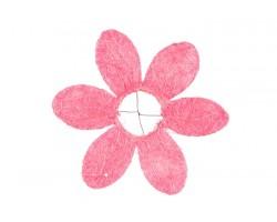 Каркас для букета Ромашка (сизаль) 25см розовый