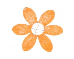 Каркас для букета Ромашка (сизаль) 25см оранжевый
