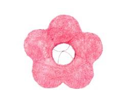 Каркас для букета Цветок (сизаль) 25см розовый