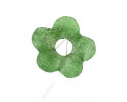 Каркас для букета Цветок (сизаль) 25см зеленый