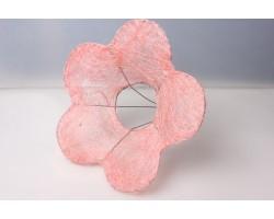Каркас для букета Цветок 25см (сизаль) светло-розовый