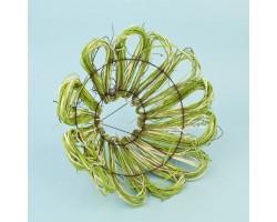 Каркас для букета Маргаритка 30см (ротанг) зеленый