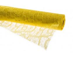 Кружево Лабиринт 50см*4.57м лимонный