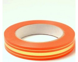 Лента п/п 2см*50м золотая полоса BL оранжевый