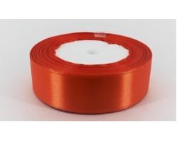Лента декоративная 25мм*22м атлас одностор.темно-оранжевый 5500010867853