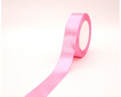 Лента декоративная 25мм*22м атлас одностор.ярко-розовый