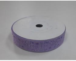 Лента декоративная 25мм*23м атлас сиреневый