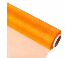 Органза-снег 47см*9м оранжевый