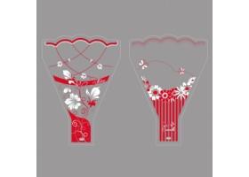 Рюмка Меланж/Эстела 30*40см (упак.100шт) красный/белый