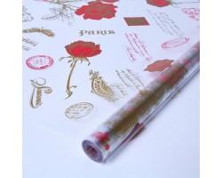Пленка Jardin 70см красный+золото