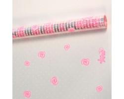 Пленка Belle Rose 70см белый+розовый