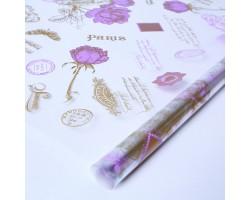 Пленка Jardin 70см ярко-фиолетовый+золото