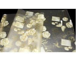 Пленка Jardin 70см кремовый+золото