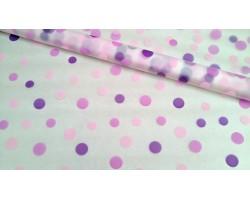 Пленка CartaPack Трехцветный горох 70см фиолетовый+ярко-фиолетовый+сиреневый
