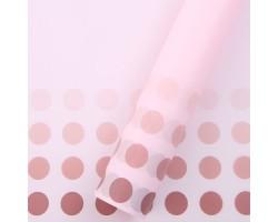 Пленка Bobs 60см*10м (Корея) бледно-розовый+марсала