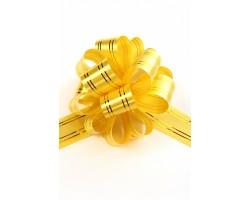 Бант шар 323-10 с золотой полосой 32мм желтый шт.